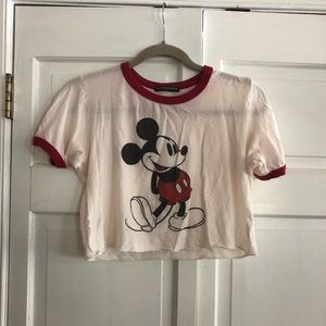 retro mickey mouse cropped brandy melville t-shirt